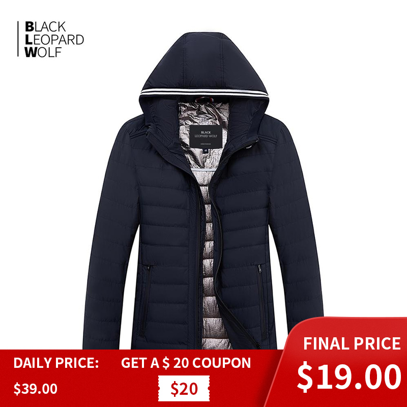 Blackleopardwolf 2019 New Arrival Spring Jacket High Quality Thick Cotton Balck Color Duck Down Jacket Spring Coat ZC-C5612
