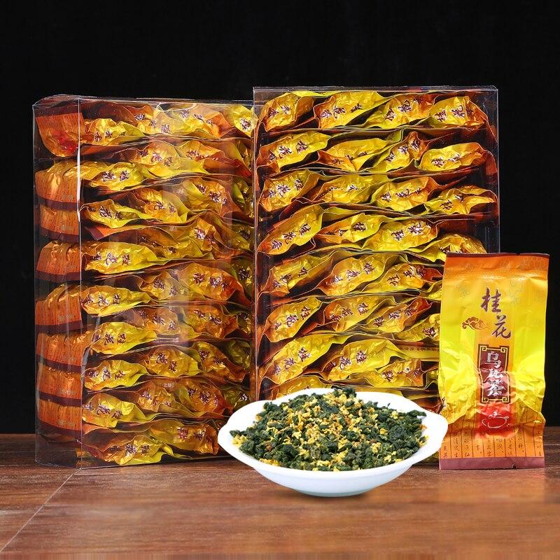 Cinese Anxi Osmanto Oolong Tè Bellezza perdita di Peso del Tè Abbassamento della Pressione Sanguigna Alta Osmanthus Oolong Tè Fresco Tè Verde