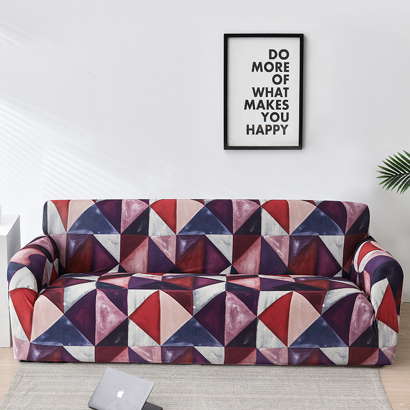Geometry Plaid Sofa Cover Slipcovers Stretch Sofa Covers for Living Room Elastic Couch Chair Cover Sofa Towel 1/2/3/4-seater