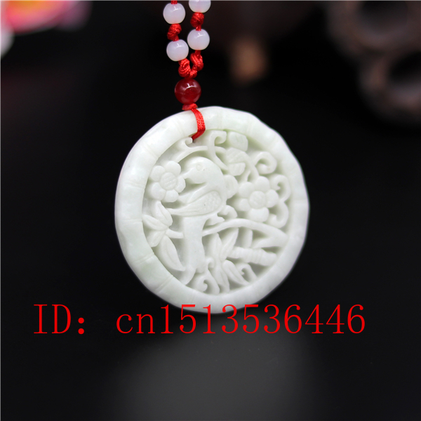 Natural White Jade Heart Pendant Chinese Charm Carved Amulet Necklace Gifts