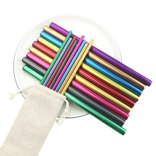 4Pcs Drinking Straw Reusable Straws Set High Quality Eco Friendly 304 Stainless Steel Metal Straw with Brush For 20/30oz Mug