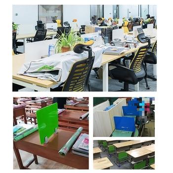 50X30cm Panel de partición de acrílico Escritorio de oficina separador de mesa deflector separador de tablero Examen de estudiante Pantalla de partición
