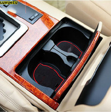 15PCS גומי החלקה פנים דלת מחצלת החלקה מחצלת מחצלות מכונית עבור טויוטה לנד קרוזר V8 LC 200 2008 2020 אביזריםmat matmat doormat rubber