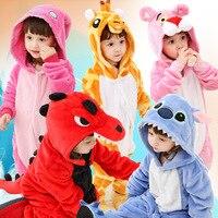 Детский комбинезон «кугуруми»; маскарадный костюм с изображением панды и динозавра; зимняя Фланелевая Пижама для мальчиков и девочек; детс...