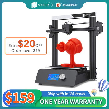 JGMAKER Magic 3D Printer Aluminium Frame DIY KIT Large Print Size 220x220x250mm Printing Masks Fast shipping EU Russia Warehouse 1