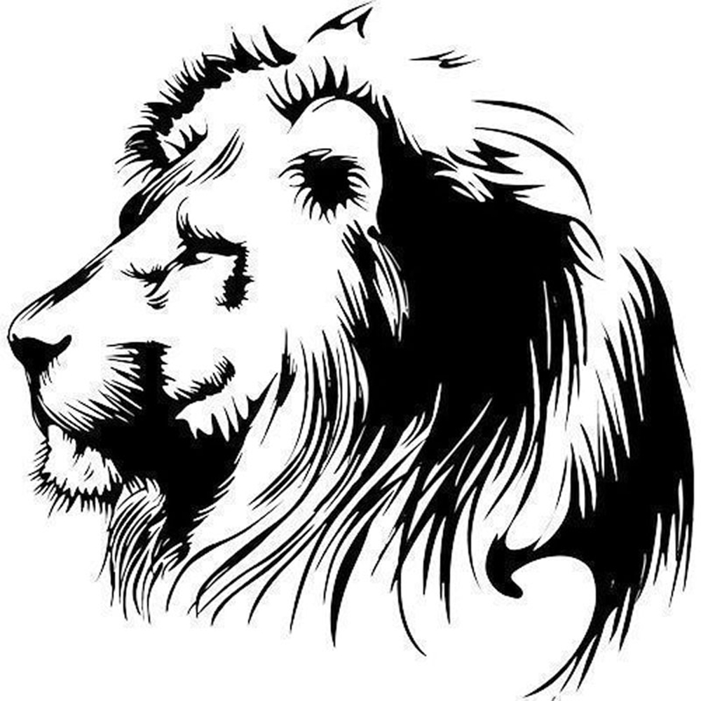 19.5X20CM Waterproof Car Stickers Meditation Lion Tiger Vinyl Decals Car Sticker Individualization Car Styling Safety Mark