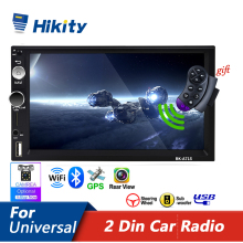 Hikity universal 2 din carro multimídia player autoradio estéreo 7 \