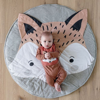 Animal Baby Play Mat For Children Winter Thick Pad Fox Carpet Newborns Rug Toy Crawling Mat Baby Kids Toy Child Crawling Blanket 2017 hot sale fashion baby blanket game mat bear blanket baby tiger blanket animal carpet warm bear play mats autumn winter