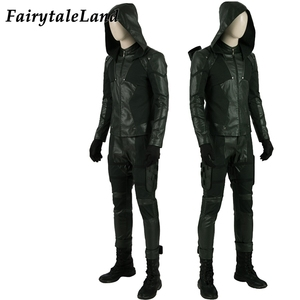 Image 2 - Green Arrow Season 8  Oliver Queen Cosplay Costume Halloween Costume Superhero Arrow Final Season Outfit Cosplay Accessories