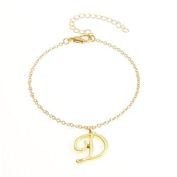 Monogram D Letter Bracelet Gift for Kids Tiny D Acronym Name Letter Charm Bracelet Jewelry