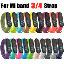 цены Colorful Mi band 4 Wristband accessories pulseira miband 4 strap replacement silicone Wriststrap for xiaomi mi4 smart bracelet