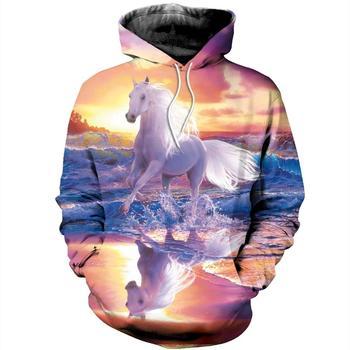 PLstar Cosmos animal Champion medal horse racing 3d hoodies/Sweatshirt Winter autumn long selvee Harajuku streetwear-5