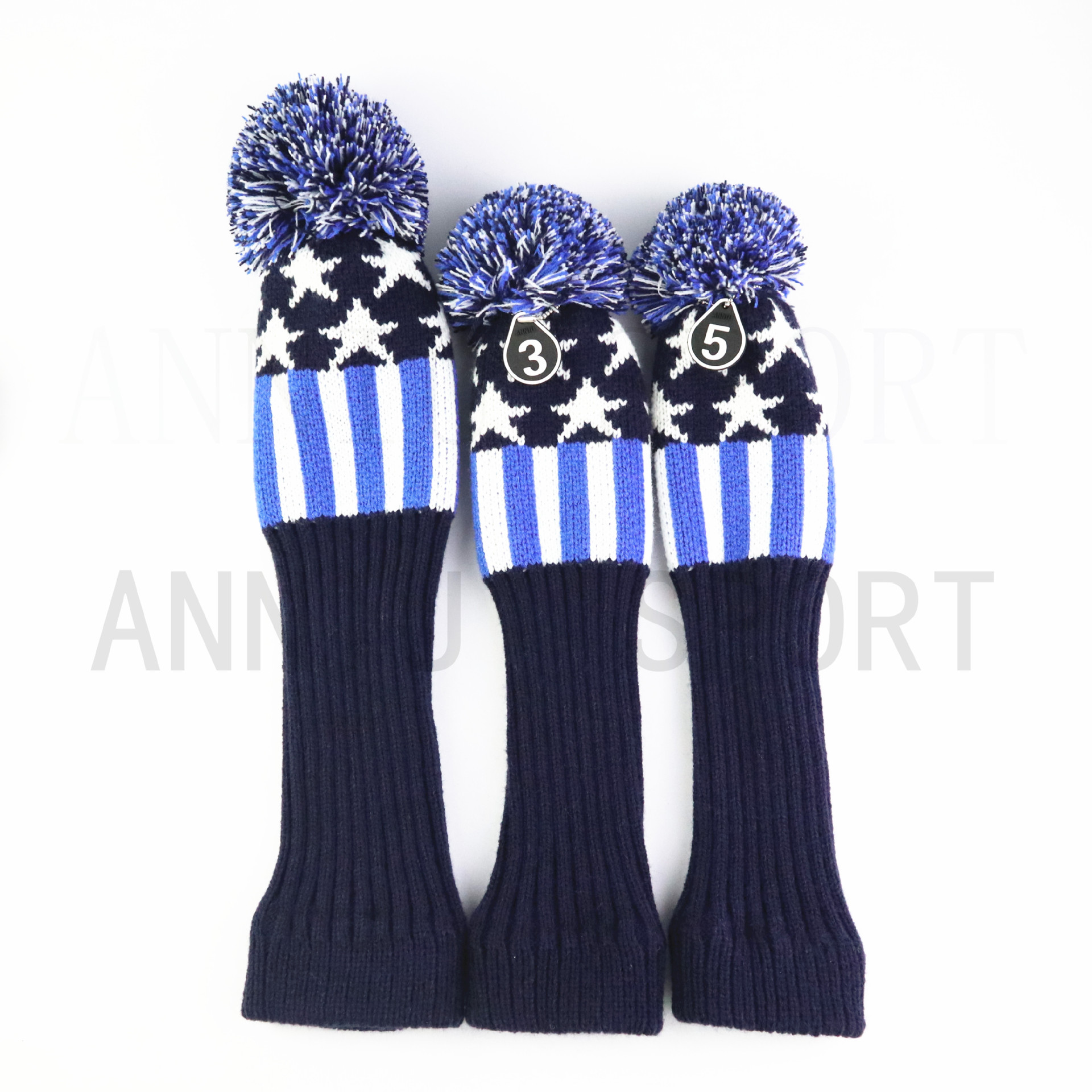Manufacturers Direct Selling Cross Border Electricity Supplier Golf Wooden Pole Suit Sleeve Qiu Gan Tao Yarn Knitted A Set Of 1/