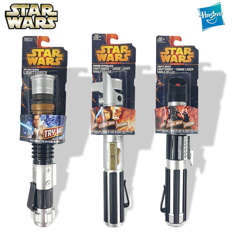 Hasbro  Star Wars Force Awakening Retractable Lightsaber Darth Vader Anakin  Collection No Lights Children Toys Laser Sword