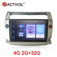 HACTIVOL 2G+32G Android 9.1 Car Radio for Citroen C4 C Triomphe C Quatre 2004 2009 car dvd player car accessory 4G multimedia
