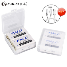 PALO 9V USB Lithium Battery 650mAh 6F22 6LR61 Li-Ion Rechargeable for toys massagers multimeters guitar with cable