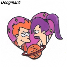 P4050 Dongmanli Cartoon Anime Jewelry Futurama Metal Enamel Pins and Brooches Cool Lapel Pin Badge Friend Gifts