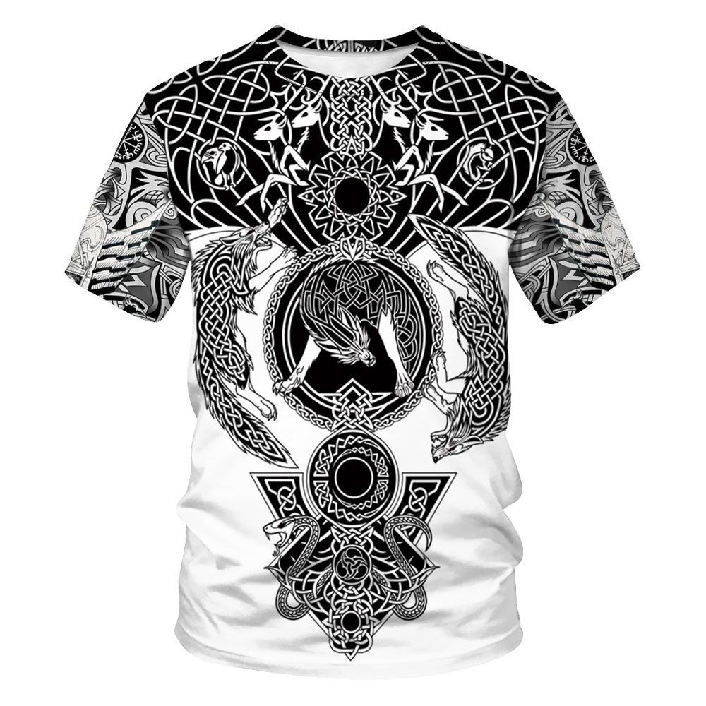 Viking symbol - odin tatuagem 3d impresso t camisa harajuku moda camisa de manga curta verão casual unisex tshirt topos