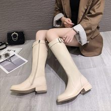 Shoes Woman Boots Knee High Winter Black Women Sexy Female Autumn Anti-slip Flat Heel Thigh 2019