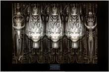 LI 3d-hr GIGER arte seda cartel para pared decorativa pintura 24x36inch(China)