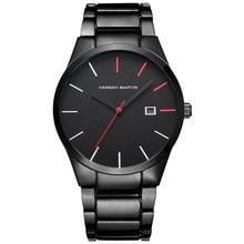 Quartzo criativo vogue vermelho & preto banda de aço inoxidável homens negócios topo marca luxo relógios luxo à prova dluxágua dropshipping