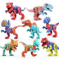 Montieren Dinosaurier Bausteine abbildung Modell Spielzeug Dinosaurier Welt Tyrannosaurus Pterosaurier Rex Zahlen Bricks Spielzeug für Kinder