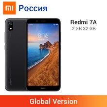Xiaomi Redmi 7A с глобальной версией, 32 Гб ПЗУ, 2 Гб ОЗУ, 7 A, Восьмиядерный процессор Snapdargon 439, 4000 мАч, камера 12 МП, полноэкранный мобильный телефон 5,45 дюйма