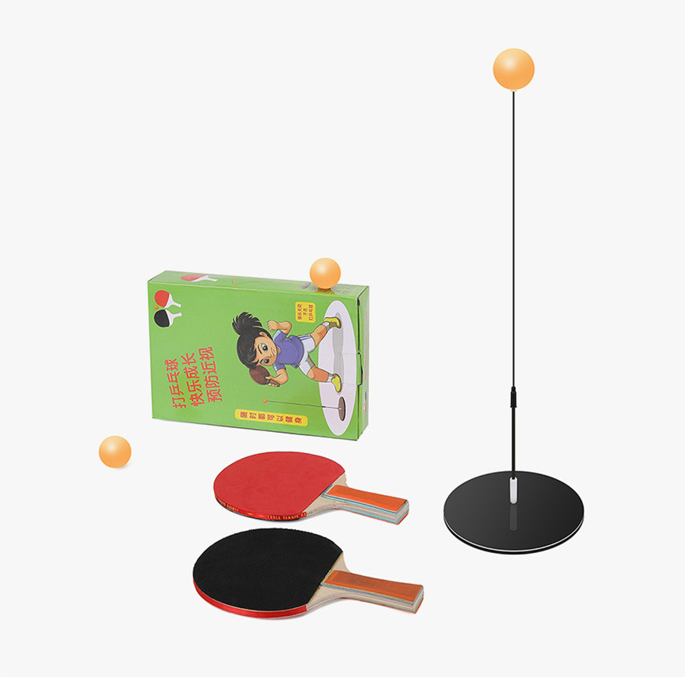 Portable Ping Pong Training Tool Set Soft Shaft Self-study Table Tennis Ball Set Machine Home Exercise