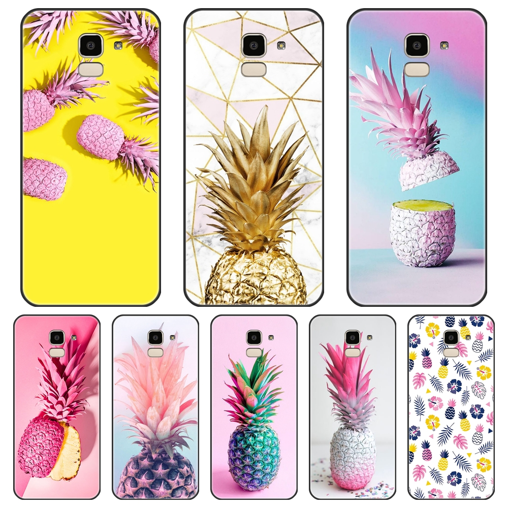 Yellow Pineapple Phone Case Silicone For Samsung Galaxy J4 J6 J8 Plus 2018 J2 J5 J7 Prime J3 J5 J7 2015 2016 2017 Back Cover image