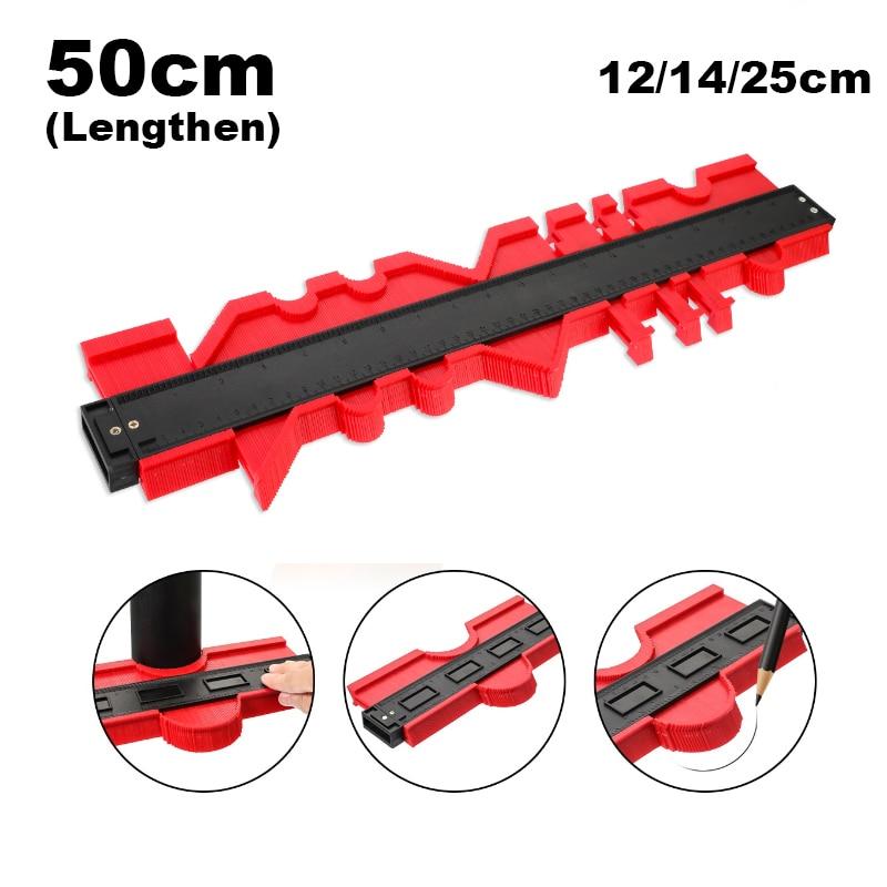 12/14/25cm Plastic Contour Profile Gauge Meter Duplicate Marking Measuring Gauging Tool Laminate Wood Tile Radian Ruler Tools