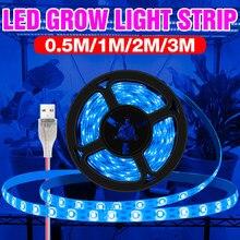 LED pełne spektrum lampa do uprawy roślin taśmy LED 5V Phyto Fito światła USB 0.5M 1M 2M 3M Veg kwiat hydroponika lampy do uprawy Fitolampy