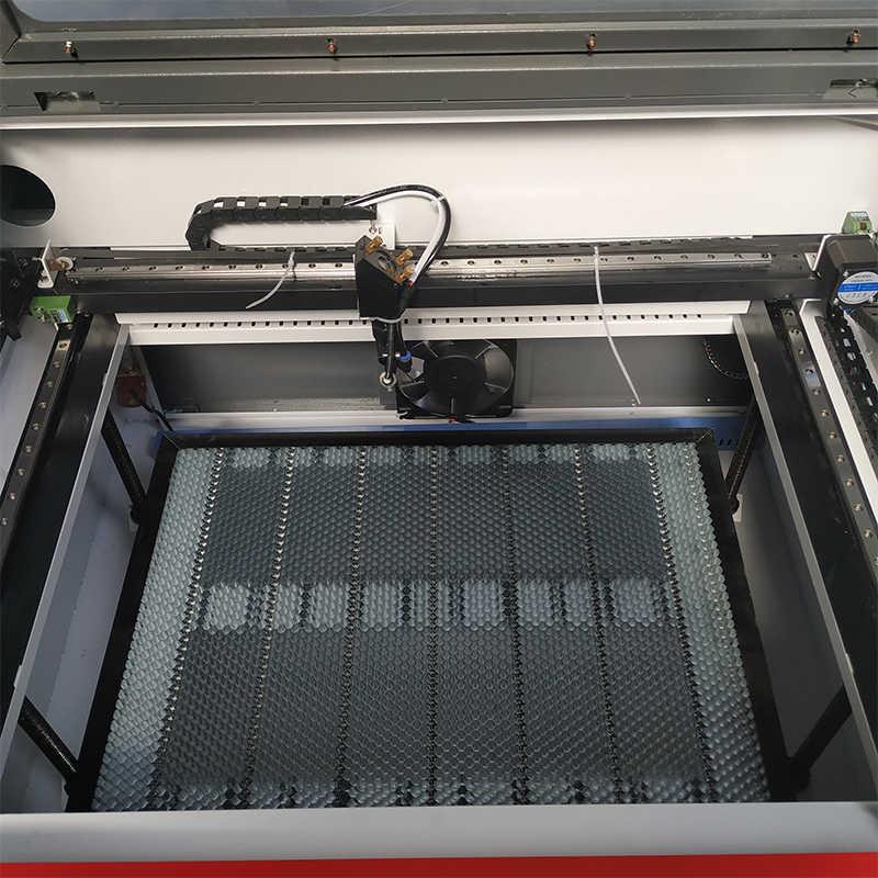 Grabado Láser 9060 100w sistema ruida XY axis cuadrado lineal grabado láser 6090 pasar por materiales largos co2 corte láser