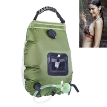 20L Outdoor Camping Shower Water Bag Camping Mountaineering Solar Shower Bag Portable Outdoor Bath Water Storage Bag Non-Toxic E solar outdoor camping shower bag 20 liters 5 gallons