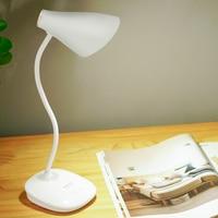 Işıklar ve Aydınlatma'ten Sıra Lambaları'de LED standı esnek masa lambası Modern dokunmatik anahtarı Led şarj edilebilir öğrenci çalışma lambası gece lambası masa lambaları yatak odası için