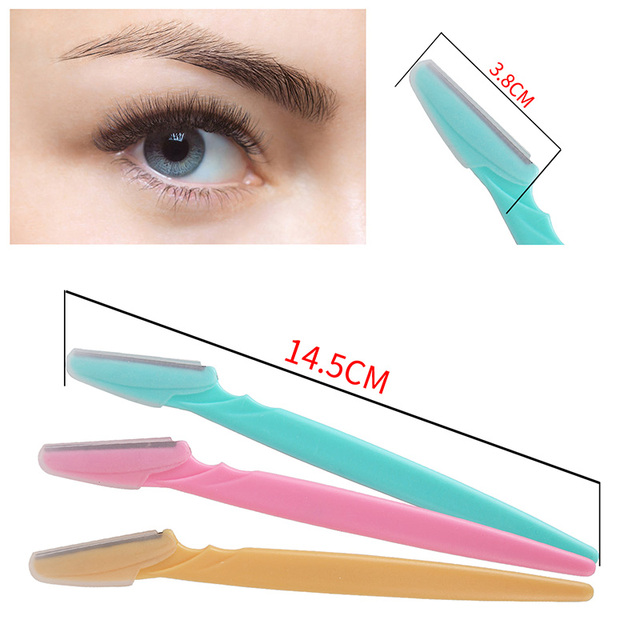 6Pcs/set Portable Tinkle Eyebrow Trimmer Safe Blade Shaping Knife Eyebrow Blades Hair Remover Set Eye Brow Shaver Razor Epilator 2