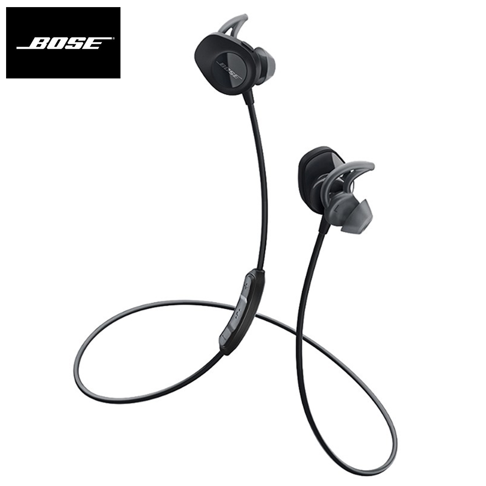 Bose SoundSport Wireless Bluetooth Headphones Sweatproof Earphone Sport Headset Smart Bass Earbuds In-line Control with Mic image