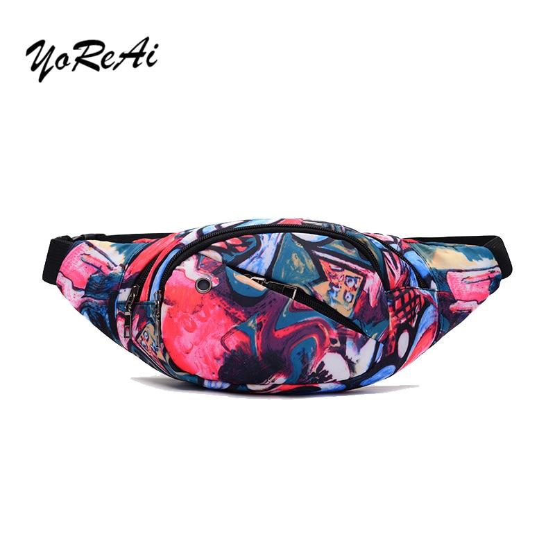 Printed Pillow Women's Waist Bag Waterproof Belt Bags For Ladies Travel Phone Case Belt Wallet Fanny Packs Female Chest Hip Bags