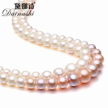 Dainashi high quality pearl necklace real fresh water pearl necklaces 925 sterling silver flower button valuable gifts for women - DISCOUNT ITEM  40% OFF All Category