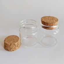 Empty glass vials 20ml Corked bottle jar with cork lid wishing 37*40mm Home storage jars 12pcs/lot
