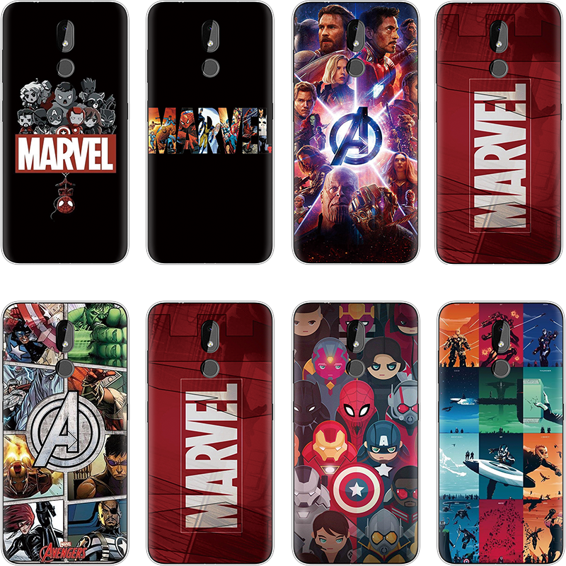 Superhero series The Avengers Fashion Soft <font><b>Cover</b></font> For TPU <font><b>Nokia</b></font> 3.1 Plus 2 3 5 8 <font><b>6</b></font> 3.2 luxury Silicon Coque For <font><b>Nokia</b></font> 7 Plus Case image