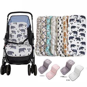 Modne siedzisko do spacerówki dla dzieci bawełna wygodne miękkie wózek dziecięcy mata poduszka dla niemowląt Buggy Pad na wózki dziecięce akcesoria do wózka dziecinnego tanie i dobre opinie COTTON Seat Cushion Astm 0-3 M 4-6 M 7-9 M 10-12 M 13-18 M 19-24 M 2-3Y 4-6Y Baby Trolley Mat Baby Stroller Cushion Stroller Seat Cushion