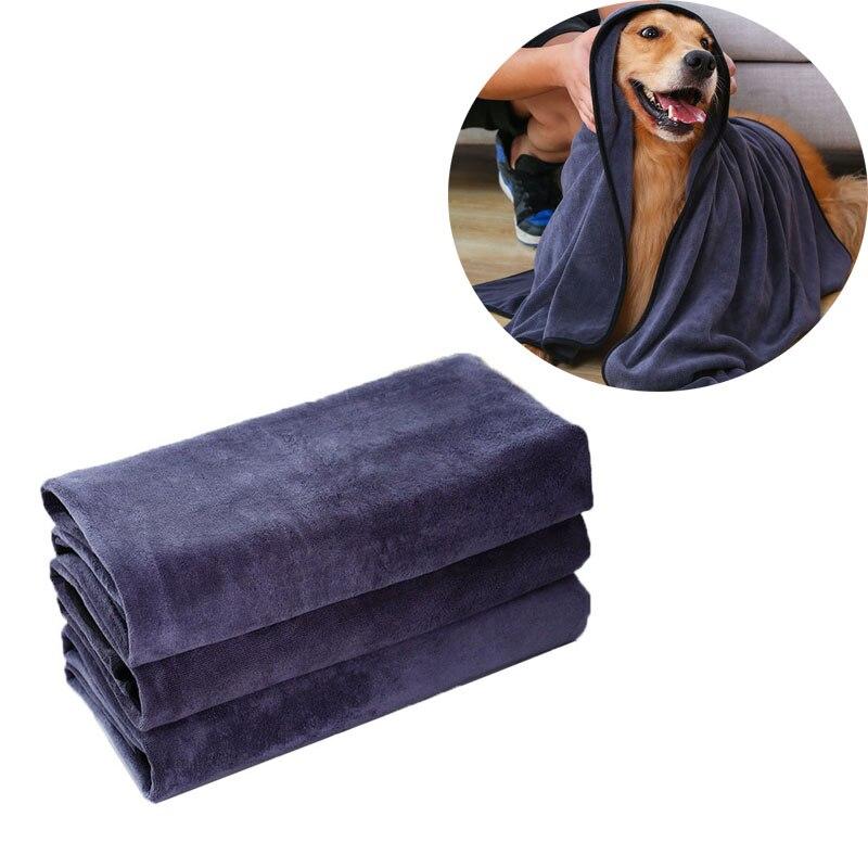 Собака Полотенца супер абсорбент банное полотенце для домашних животных Полотенца Микрофибра собака сушки Полотенца для маленьких, средни...