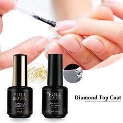 15ml Base And Top Coat For Gel Polish Diamond Topcoat Shinny Sealer No Wipe Top Coat Gel Lak Matt UV Varnishes For Nail CH1594-1