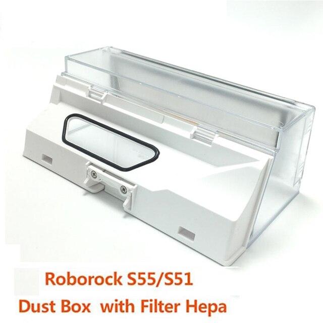Dust Box for Xiaomi Mi Robot Vacuum 2 Generation Dust Box for Roborock S55/S51 Roborock S50 Dust Box Replacement