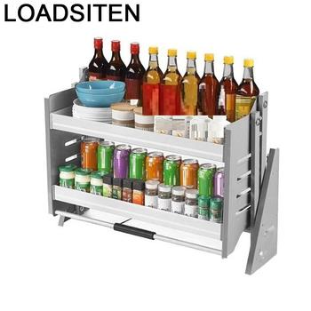 Szafka do przechowywania spiżarni Cucina Rangement kuchnia Despensa Gabinete wiszący Organizer Cozinha Cocina szafka kuchenna kosz tanie i dobre opinie LOADSITEN CN (pochodzenie) Metal