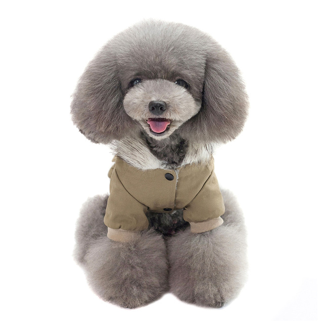 Hooded Pet Dog Clothes Autumn Winter Soft Warm Coat Pet Hoodie Supplies TUE88 2
