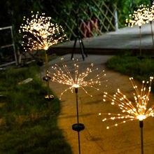 Led Solar Garden Firework Lights Outdoors Lawn Waterproof Flash String Fairy Light Home Garden Christmas Decor 90/120/150Leds