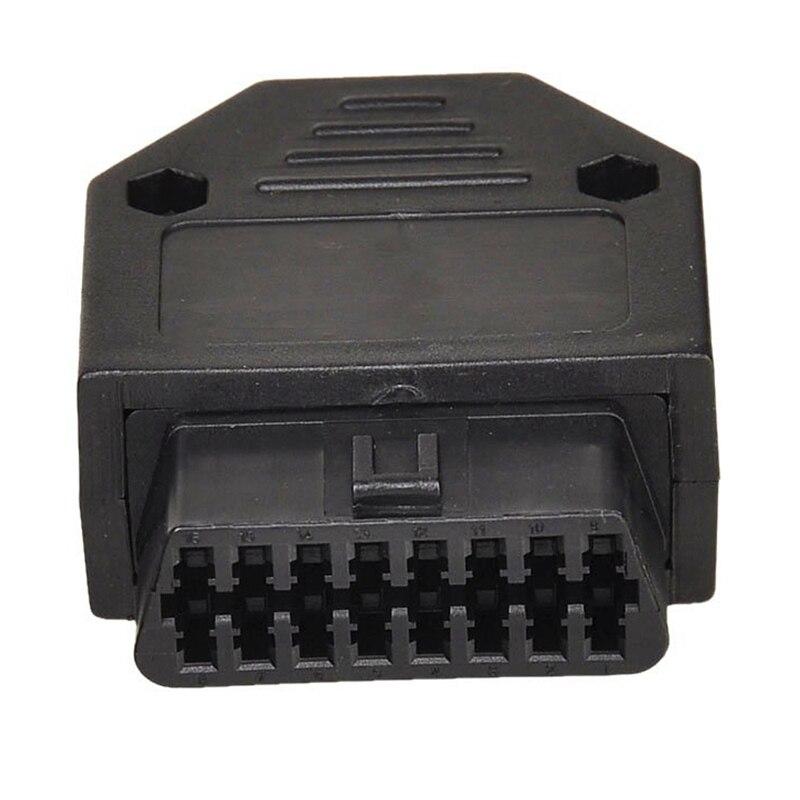 OBD2 OBD II 16 Pin Connector Socket Diagnostic Tool Adapter OBD Connector + Enclosures + Terminal + Screws