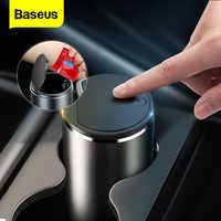 Baseus-Cubo de basura y almacenamiento de accesorios para el coche, cesta organizadora de elementos en la parte interna del auto de aleación sirve como bolsa