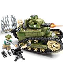 Toys For Children Renault Tank Military Model Kit Compatible Legoing DIY Assembled Educational Building Blocks Brick Kid New O30 цена